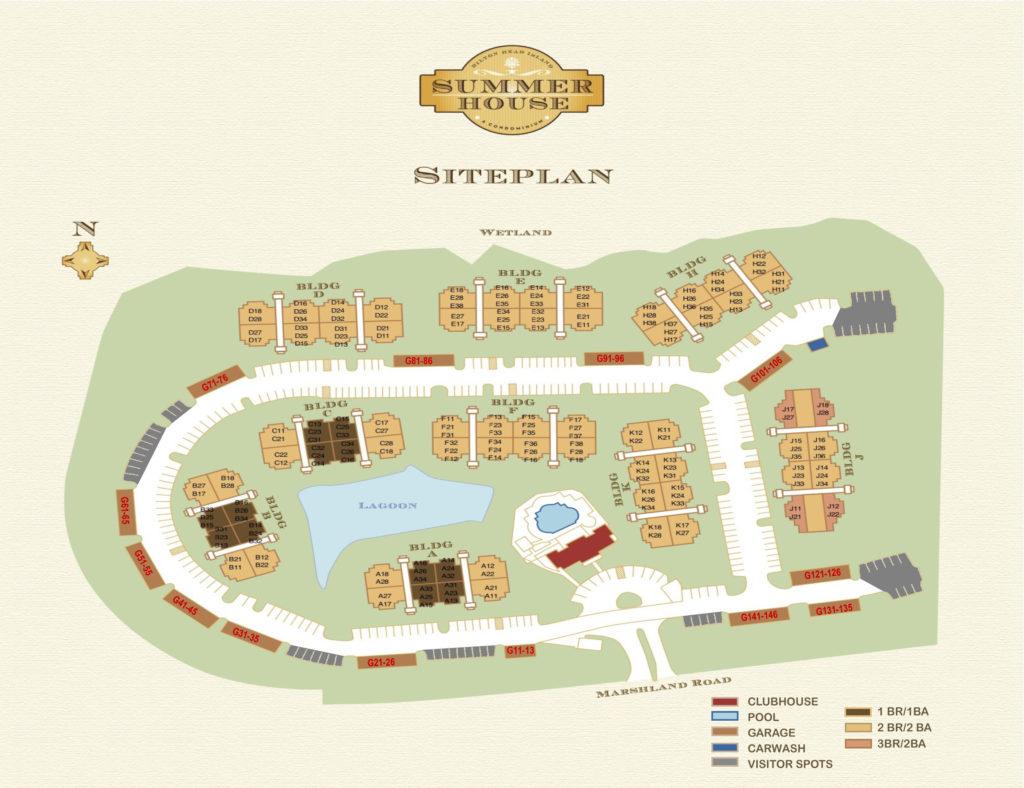 Summerhouse hilton head island Map